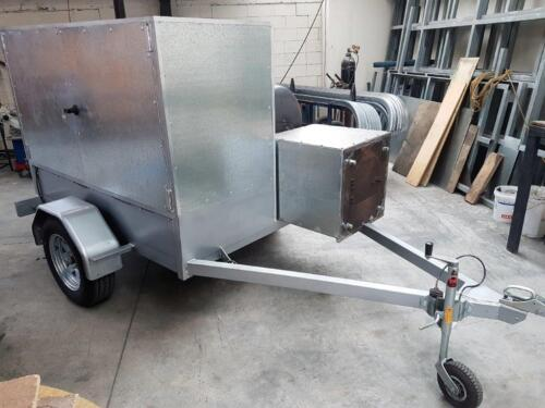 Mobile food smoker completed